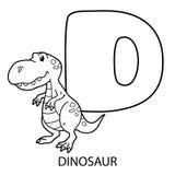 Cute Cartoon Dinosaur Outline Stock Vector
