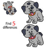 Educational game. Vector illustration of kids puzzle educational game Find 5 differences for preschool children Stock Photo