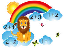 Educational games for children, for the calculation. Stock Image