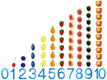 Educational games for children, table for counting from zero to ten. royalty free illustration
