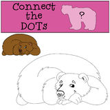Educational games for kids: Connect the dots. Cute bear. Royalty Free Stock Images