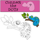 Educational games for kids: Connect the dots.  Royalty Free Stock Photo