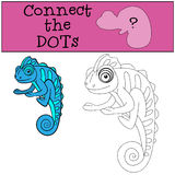 Educational games for kids: Connect the dots.  Stock Images