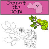 Educational games for kids: Connect the dots.  Royalty Free Stock Images