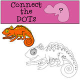 Educational games for kids: Connect the dots.  Royalty Free Stock Photography