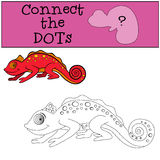 Educational games for kids: Connect the dots. Royalty Free Stock Photos