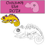 Educational games for kids: Connect the dots Royalty Free Stock Photography
