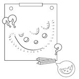 Educational games for kids: numbers game. Cheese. Coloring book for children Stock Photography