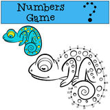 Educational games for kids: Numbers game with contour.  Royalty Free Stock Photos