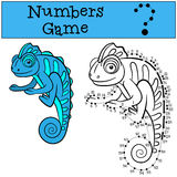 Educational games for kids: Numbers game with contour.  Stock Image