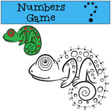 Educational games for kids: Numbers game with contour.  Stock Photo