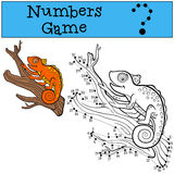 Educational games for kids: Numbers game with contour. Royalty Free Stock Images