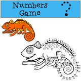 Educational games for kids: Numbers game with contour.  Royalty Free Stock Image