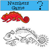 Educational games for kids: Numbers game with contour. Royalty Free Stock Photography