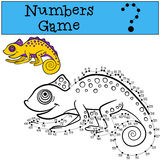 Educational games for kids: Numbers game with contour.  Stock Photography
