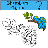 Educational games for kids: Numbers game.  Stock Photo