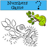 Educational games for kids: Numbers game.  Stock Images