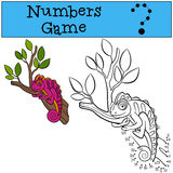 Educational games for kids: Numbers game.  Royalty Free Stock Images