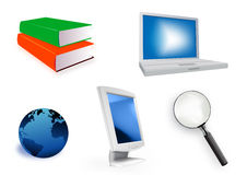 Educational Icon Set Stock Images