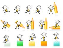 Educational icon set Stock Photography