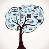 Educational icon tree Stock Photography