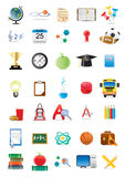 Educational icons Royalty Free Stock Images