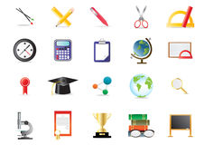Educational icons Royalty Free Stock Image