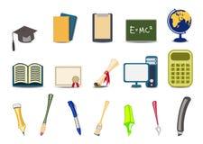 Educational icons Stock Photo