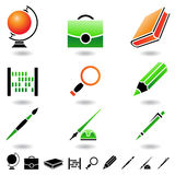 Educational icons Royalty Free Stock Photos