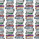 Educational illustration. Study, session, library, student life. Seamless pattern. Stock Image