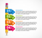 Educational Infographics template with colored arrows. Vector illustration Vector Illustration