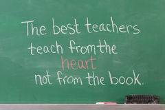 Educational Inspirational Phrase. For teachers written on chalkboard Stock Photos