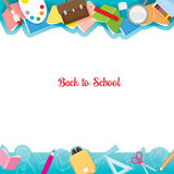 Educational Instruments Icons On Frame Royalty Free Stock Photography