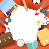 Educational Instruments Objects On Frame Royalty Free Stock Photos
