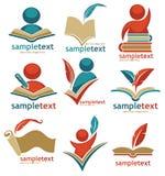 Educational logo collection Royalty Free Stock Photos