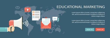 Educational marketing flat banner Royalty Free Stock Photography