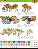 Educational math game cartoon Royalty Free Stock Images