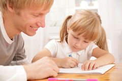 The educational moment Royalty Free Stock Photos