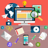 Educational oblects and tools Royalty Free Stock Images