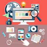 Educational oblects and tools Royalty Free Stock Photo