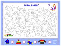Free Educational Page For Little Children On Math. Find Animals, Paint Them, Count The Quantity And Write Numbers In Circles. Stock Photos - 155245953