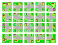 Educational page for kids. Cut the squares, make the village with your own Traffic Laws and drive by toy cars. Stock Images