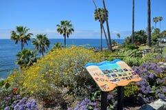 Educational placard in Heisler Park in Laguna Beach, California. Royalty Free Stock Photos