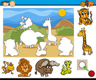Educational preschool game cartoon Royalty Free Stock Photos