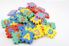 Educational puzzle pieces Stock Image