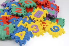 Educational puzzle pieces Royalty Free Stock Images