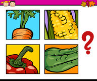 Educational puzzle task for children Stock Photography