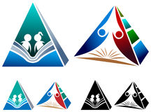 Educational pyramid Stock Image