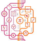 Educational School Symbols Pattern stock photography
