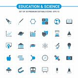 Educational and Science icons. For web design and application interface, also useful for infographics. Vector illustration royalty free illustration